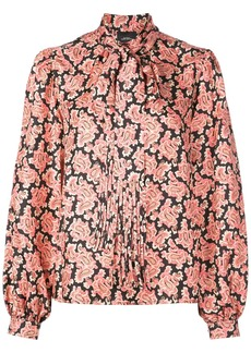 Marc Jacobs bow-tie detail paisley blouse