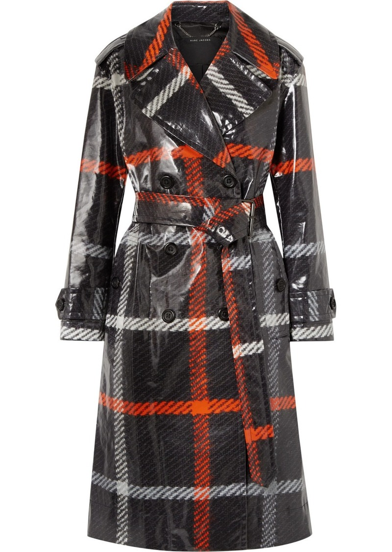 Marc Jacobs Checked Coated-cotton Trench Coat
