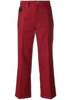 Marc Jacobs checked cropped trousers