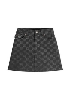 Marc Jacobs Checked Denim Mini Skirt