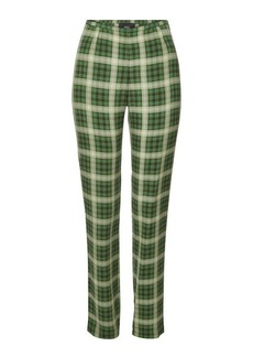 Marc Jacobs Checked Silk Pants