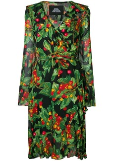 Marc Jacobs cherries print wrap dress