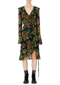 Marc Jacobs Redux Grunge Cherry Georgette Ruffle Dress