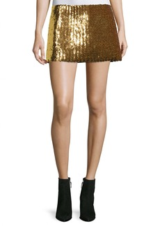 Marc Jacobs Chevron Sequined Mini Skirt