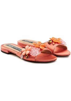 Marc Jacobs Clara Embellished Satin Sandals
