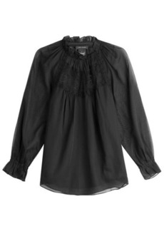 Marc Jacobs Cotton Blouse with Lace
