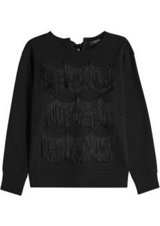 Marc Jacobs Cotton Sweatshirt with Fringe
