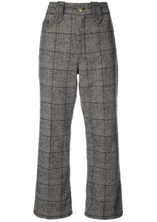 Marc Jacobs Creased cropped plaid pants