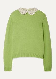 Marc Jacobs Crochet-trimmed Wool Sweater