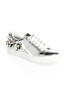 Marc Jacobs Daisy Metallic Low-Top Sneakers