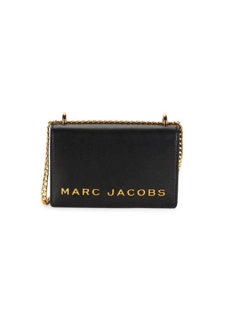 Marc Jacobs Mini Double Take Leather Logo Crossbody Bag