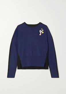 Marc Jacobs Embellished Two-tone Wool Sweater