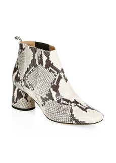Marc Jacobs Embossed Leather Rocket Chelsea Boots