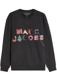 Marc Jacobs Embroidered and Embellished Cotton Sweatshirt