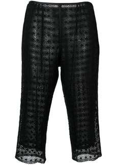Marc Jacobs embroidered cropped trousers