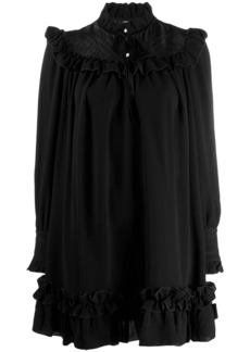 Marc Jacobs embroidered ruffle trim dress
