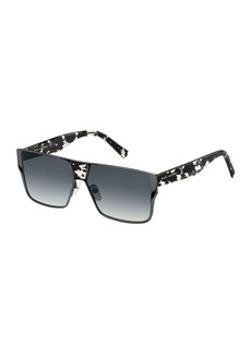 Marc Jacobs Faceted Flat-Top Oversized Square Sunglasses  Black