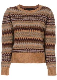 Marc Jacobs fair isle puff sleeve sweater