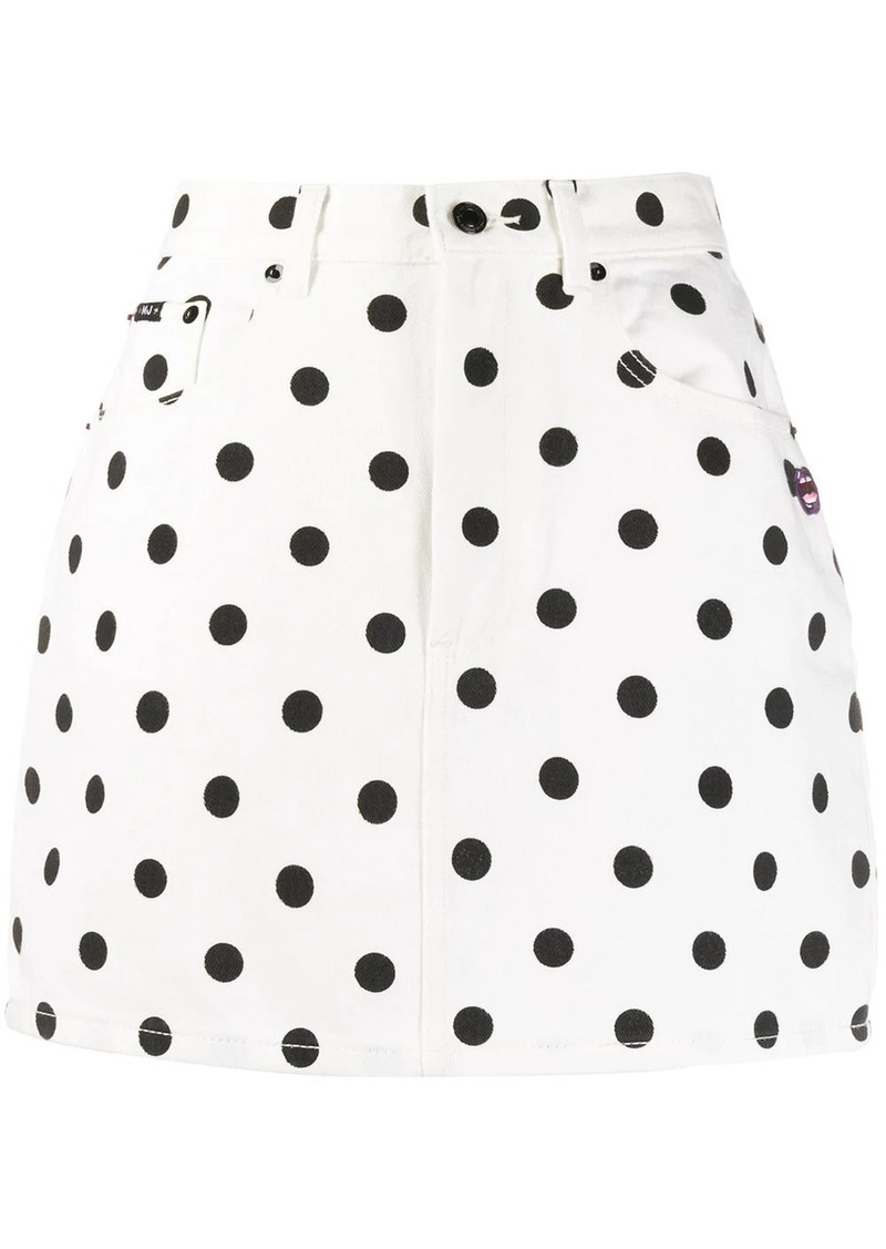 Marc Jacobs fitted polka dot print skirt