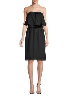 Marc Jacobs Flare-Top Silk Dress