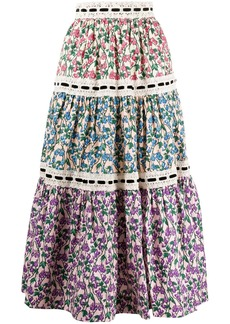 Marc Jacobs floral print A-line skirt