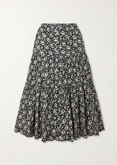 Marc Jacobs Floral-print Cotton-poplin Midi Skirt