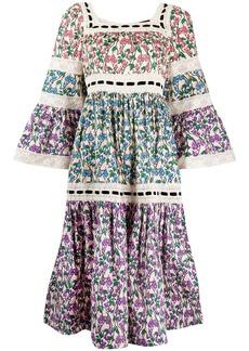 Marc Jacobs floral print crochet dress