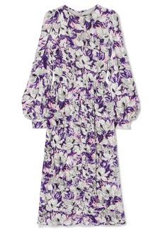 Marc Jacobs Floral-print Crushed-velvet Midi Dress
