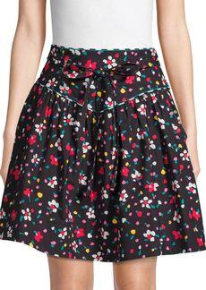 Marc Jacobs Floral Stretch Cotton Yoke Skirt