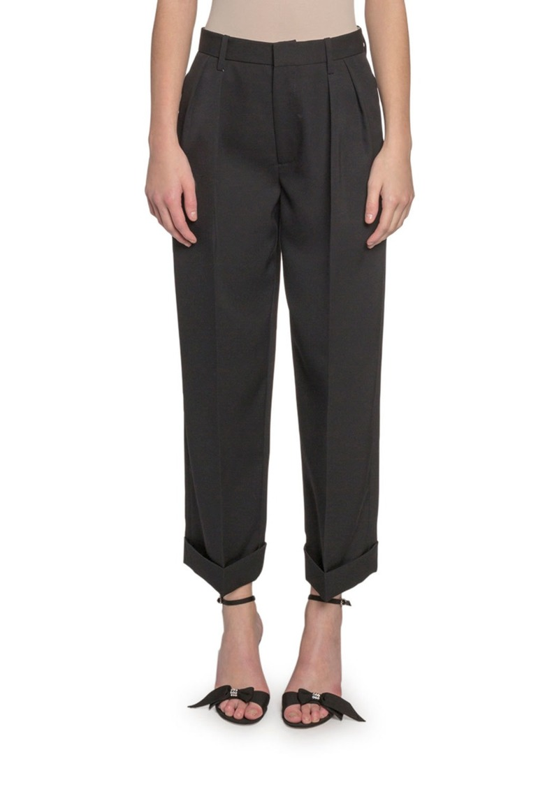 Marc Jacobs Folded-Cuff Pleated Pants