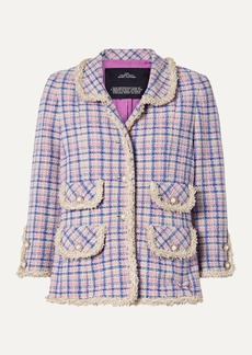 Marc Jacobs Frayed Checked Cotton-tweed Jacket