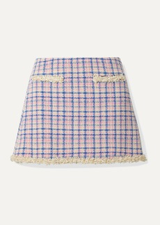 Marc Jacobs Frayed Checked Cotton-tweed Mini Skirt