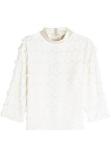 Marc Jacobs Fringed Top with Silk