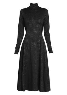 Marc Jacobs Runway Glitter Print Crepe Jersey Midi Dress