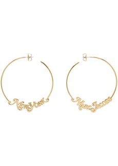 Marc Jacobs Gold New York Magazine Edition 'The Logo Hoop' Earrings