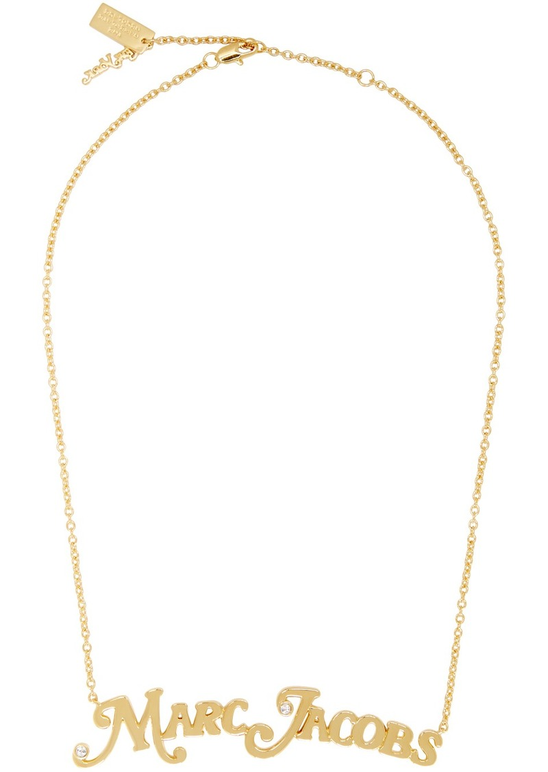 Marc Jacobs Gold New York Magazine Edition 'The Nameplate Pendant' MJ Necklace