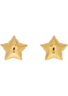 Marc Jacobs Gold 'The Balloon Star Studs' Earrings