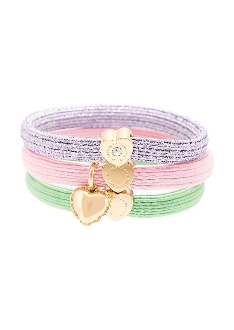 Marc Jacobs heart charm hair elastics set