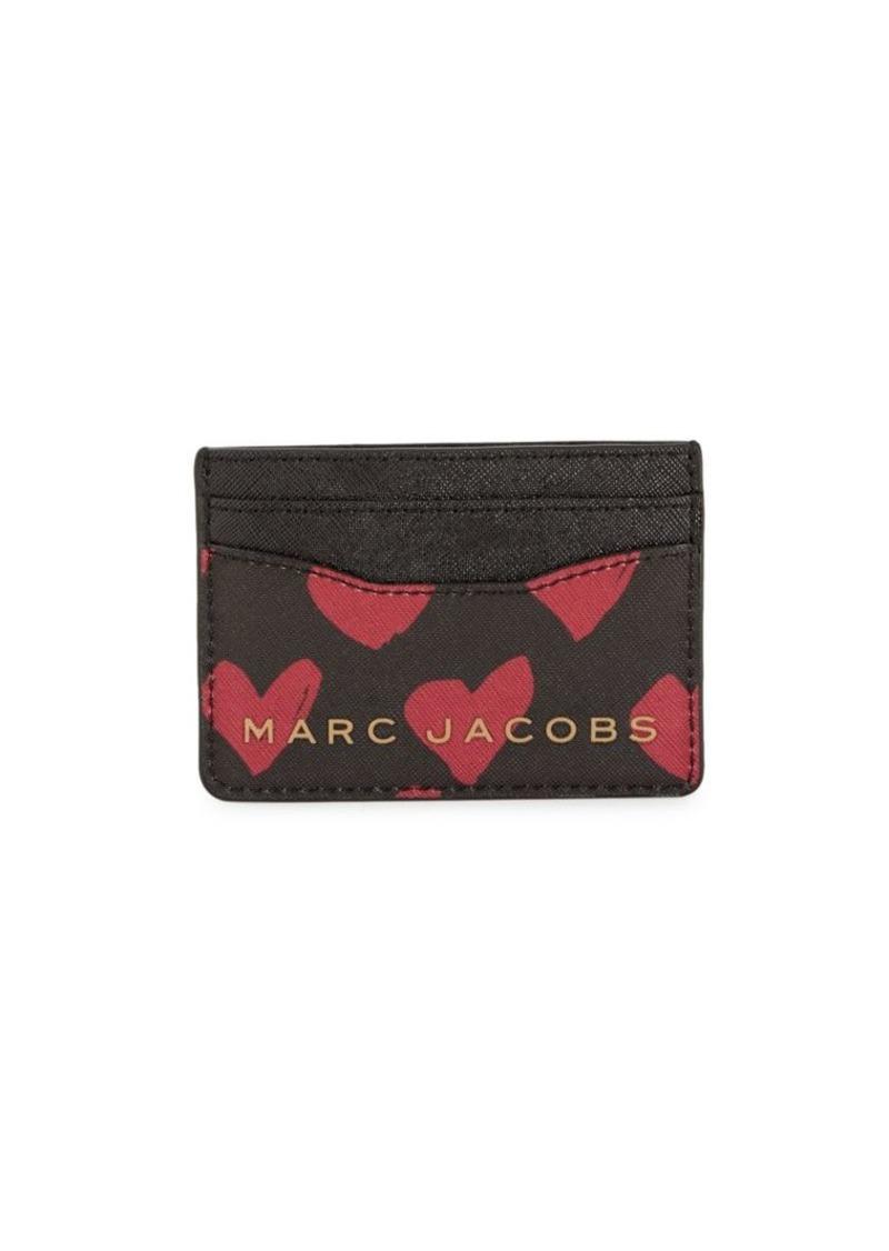 Marc Jacobs Heart-Print Card Case