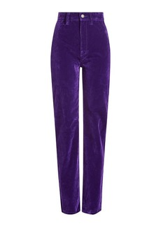 Marc Jacobs High Rise Velvet Disco Jeans