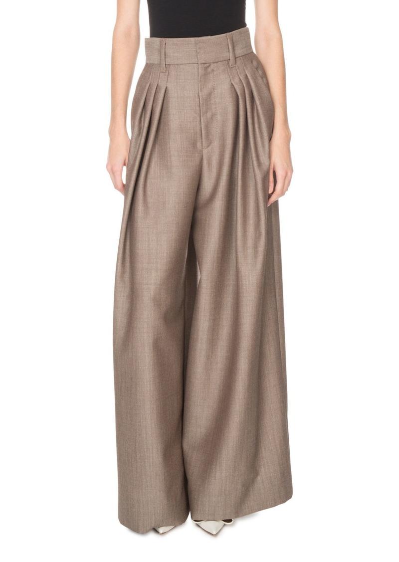 Marc Jacobs High-Waist Menswear Wide-Leg Trousers