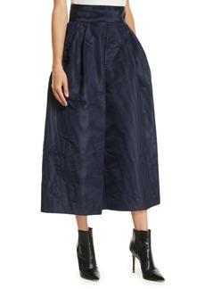 Marc Jacobs High-Waist Silk Moire Wide-Leg Pants