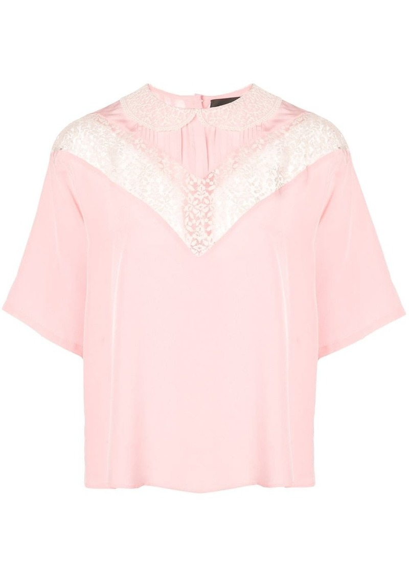 Marc Jacobs lace detail blouse
