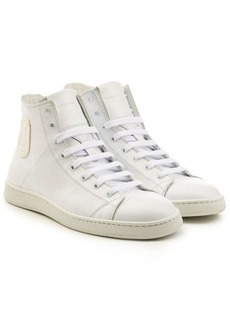 Marc Jacobs Leather High-Top Sneakers