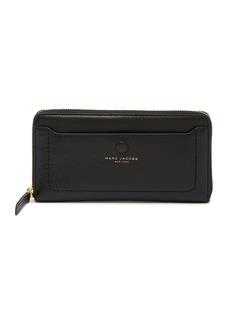 Marc Jacobs Leather Vertical Zip-Around Wallet