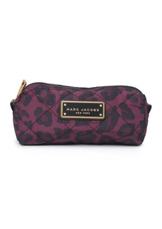 Marc Jacobs Leopard Print Quilted Cosmetic Bag