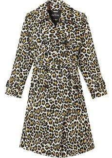 Marc Jacobs leopard-print trench coat
