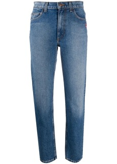 Marc Jacobs lip patch straight-fit jeans