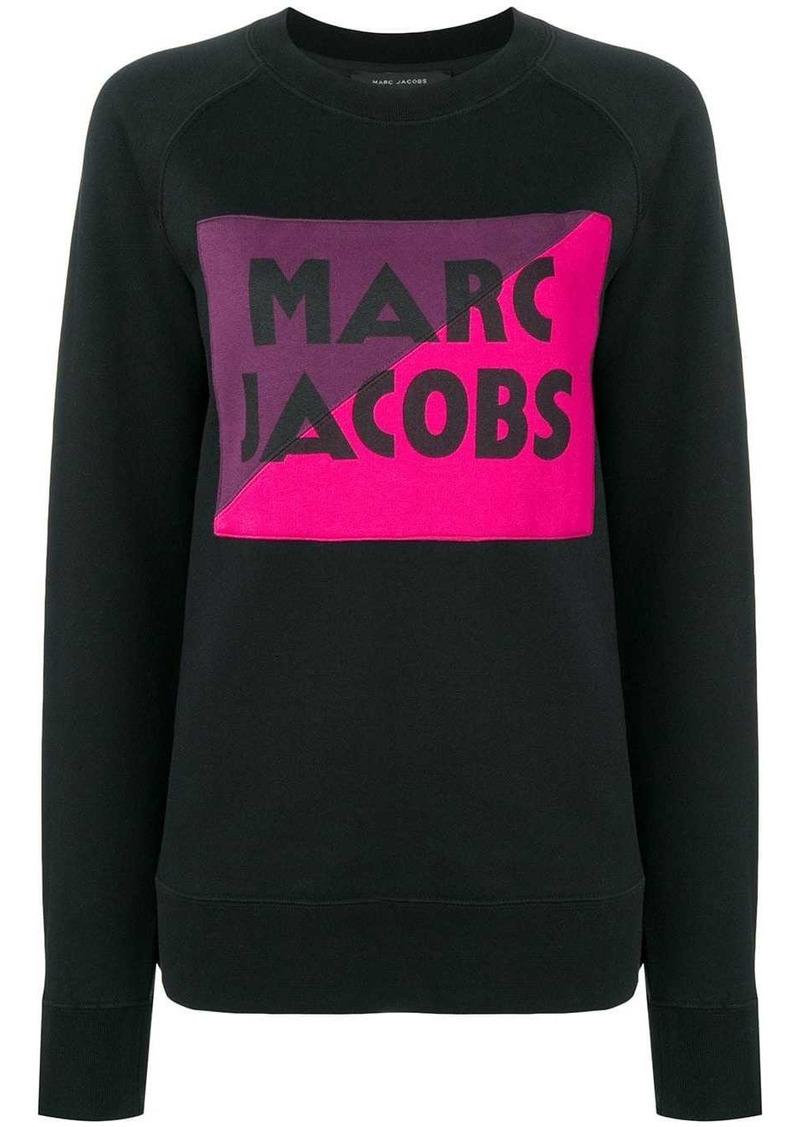 Marc Jacobs logo colour-block sweater