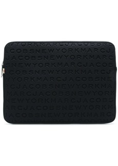 Marc Jacobs logo embossed laptop case
